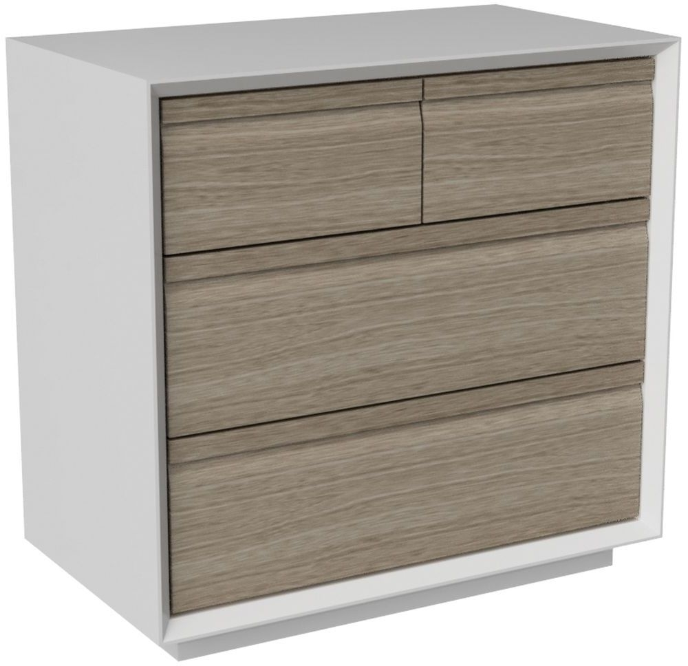 Corton Light Grey Painted 2+2 Drawer Chest
