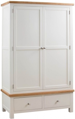 Dorset Ivory Painted 2 Door Double Wardrobe