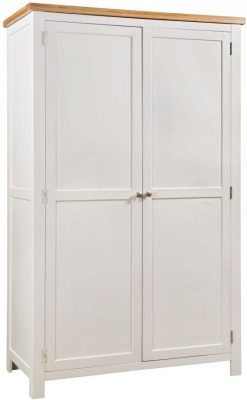 Dorset Ivory Painted 2 Door Hanging Wardrobe