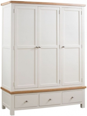 Dorset Ivory Painted 3 Door Triple Wardrobe