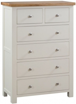Dorset Ivory Painted 2 Over 4 Drawer Chest