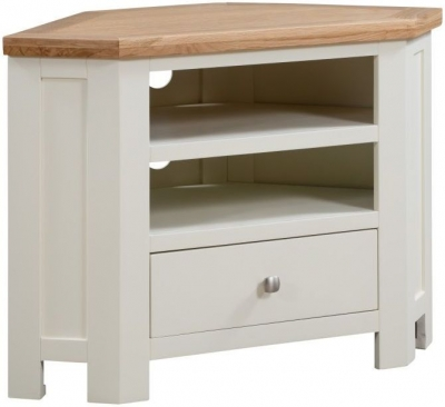 Dorset Ivory Painted 90cm Corner TV Unit
