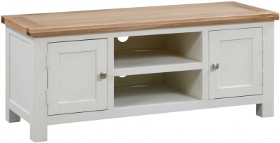 Dorset Ivory Painted 120cm Large TV Unit