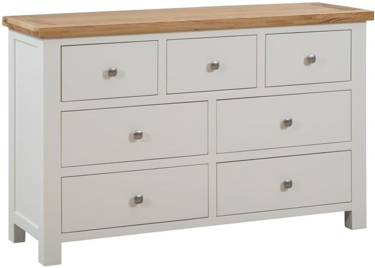 Dorset Ivory Painted 3 Over 4 Drawer Chest