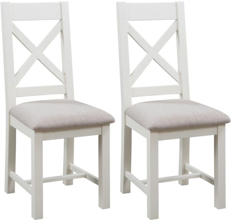Dorset Ivory Painted Crossback Dining Chair (Pair)