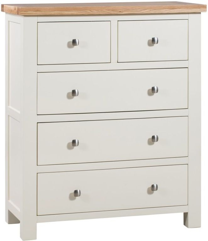 Dorset Ivory Painted 2 Over 3 Drawer Chest