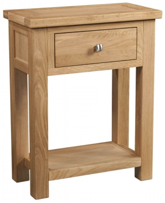 Dorset Oak 1 Drawer Small Console Table