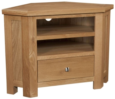 Dorset Oak 90cm Corner TV Unit
