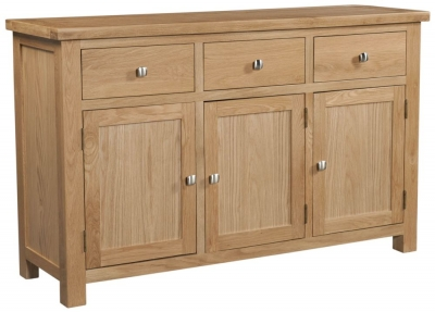 Dorset Oak 3 Door Sideboard