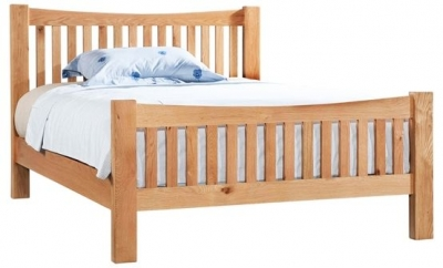 Devonshire Dorset Oak Bed - High Foot End