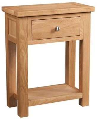 Devonshire Dorset Oak Console Table - 1 Drawer