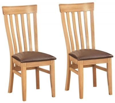 Dorset Oak Toulouse Dining Chair (Pair)