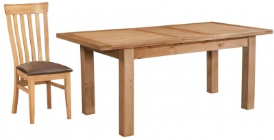 Devonshire Dorset Oak Dining Set - 120cm Table with 4 Toulouse Chairs