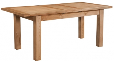 Devonshire Dorset Oak Dining Table with 1 Leaf - 120cm