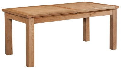 Devonshire Dorset Oak Dining Table with 2 Leaf - 180cm