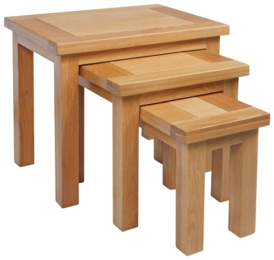 Dorset Oak Nest of 3 Tables
