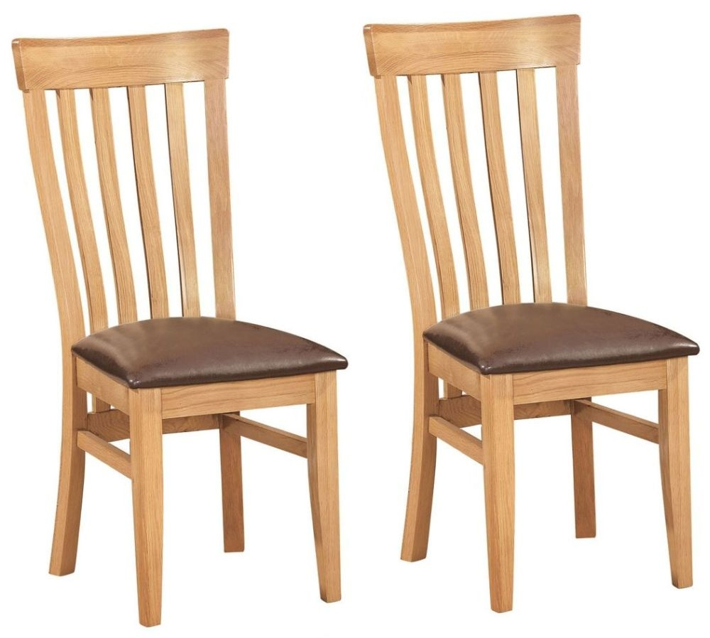 Devonshire Dorset Oak Toulouse Dining Chair (Pair)