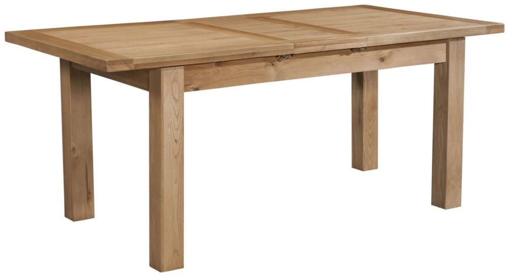 Devonshire Dorset Oak 1 Leaf Extending Dining Table