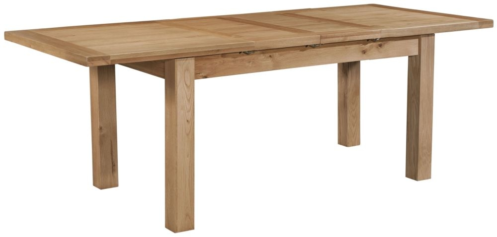 Devonshire Dorset Oak 2 Leaf Extending Dining Table