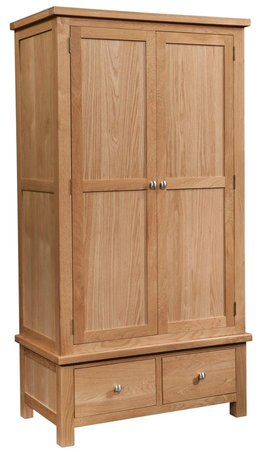 Devonshire Dorset Oak 2 Door 2 Drawer Double Wardrobe