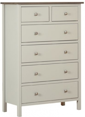 Devonshire Kenwith Painted Chest of Drawer - 4+2 Drawer