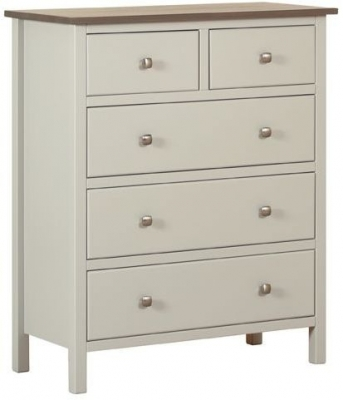 Devonshire Kenwith Painted Chest of Drawer - Small 3+2 Drawer