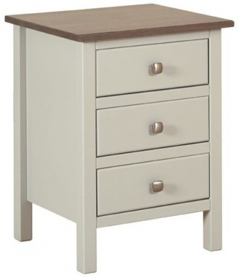 Devonshire Kenwith Painted Bedside Cabinet - Large 3 Drawer