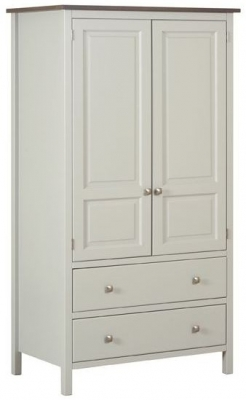 Devonshire Kenwith Painted Wardrobe - Double 2 Drawer