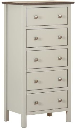 Devonshire Kenwith Painted Chest of Drawer - 5 Drawer Wellington