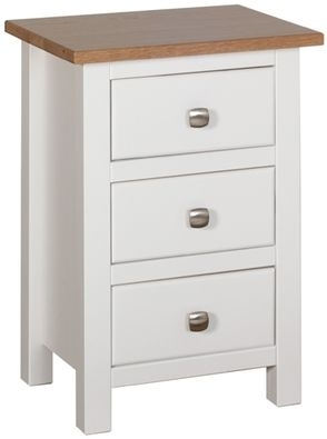Devonshire Kenwith Painted 3 Drawer Compact Bedside Cabinet