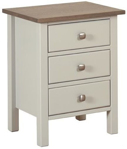 Devonshire Kenwith Painted Bedside Cabinet - Standard 3 Drawer