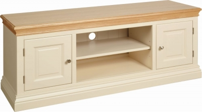 Devonshire Lundy Ivory Painted Large TV Unit