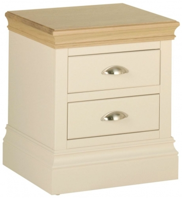 Lundy Painted 2 Drawer Bedside Cabinet
