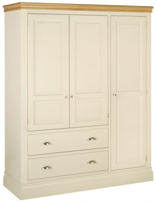 Lundy Painted 3 Door Triple Wardrobe