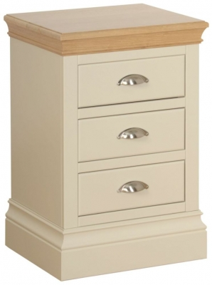 Lundy Painted 3 Drawer Bedside Cabinet