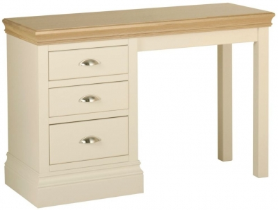 Devonshire Lundy Ivory Painted Single Pedestal Dressing Table