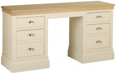 Devonshire Lundy Ivory Painted Double Pedestal Dressing Table