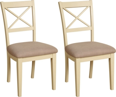 Devonshire Lundy Painted Cross Back Dining Chair (Pair)