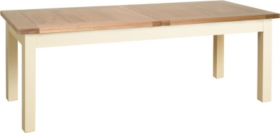 Devonshire Lundy Painted Rectangular Extending Dining Table - 204cm-270cm