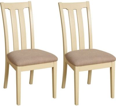 Devonshire Lundy Painted Slatted Back Dining Chair (Pair)