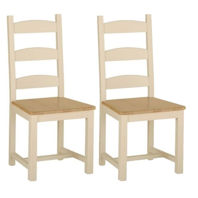 Devonshire Lundy Pine Amish Beech Dining Chair (Pair)