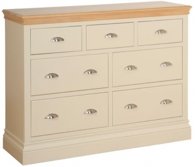 Devonshire Lundy Pine Chest of Drawer - Large 3+4 Drawer