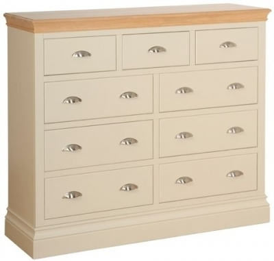 Devonshire Lundy Pine Chest of Drawer - Small 3+6 Drawer