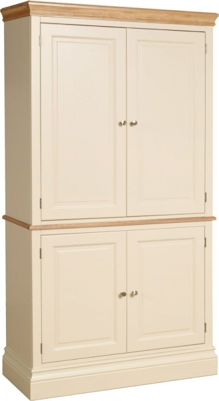 Devonshire Lundy Painted 4 Door Double Larder Cupboard