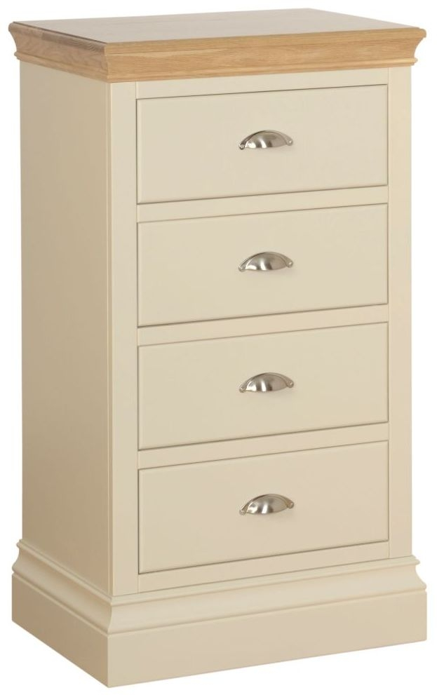 Devonshire Lundy Ivory Painted 4 Drawer Wellington Chest