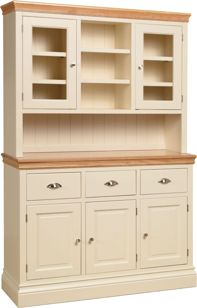 Devonshire Lundy Glazed Top Dresser - Ivory Painted