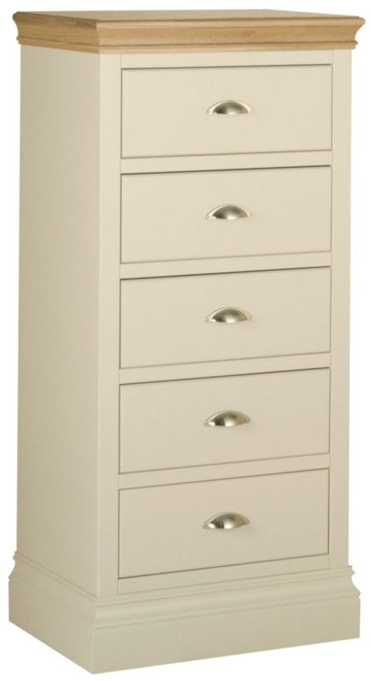 Devonshire Lundy Ivory Painted 5 Drawer Wellington Chest