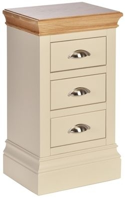 Devonshire Lundy Painted 3 Drawer Compact Bedside Cabinet