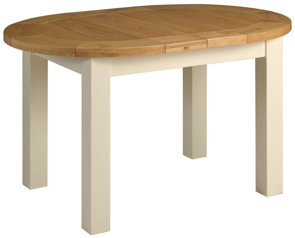 Devonshire Lundy Painted Small Oval D-End Extending Dining Table - 132cm-165cm