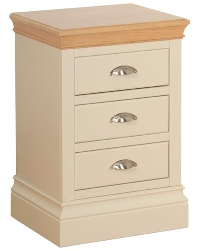 Devonshire Lundy Painted 3 Drawer Bedside Cabinet